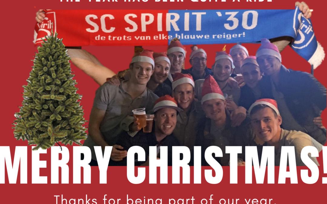 Spirit wenst iedereen fijne feestdagen en een gelukkig, gezond en sportief 2020